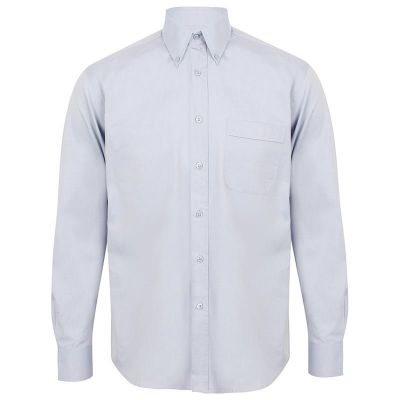Henbury Long sleeve lightweight Oxford- Plus Sizes