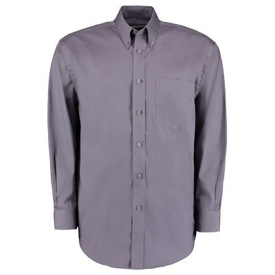 Kustom Kit Corporate Oxford shirt long sleeved- Plus Sizes