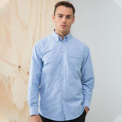 Henbury Long sleeved classic Oxford shirt