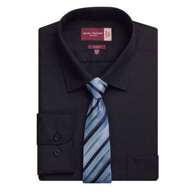 Brook Taverner Alba cotton-rich slim fit shirt
