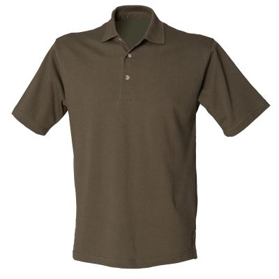 Henbury Classic cotton pique polo with stand-up collar (HB100)