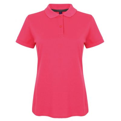 Henbury Women's micro-fine piqué polo shirt