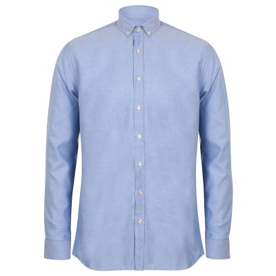 Henbury Modern long sleeve Oxford shirt