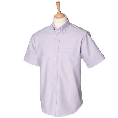 Henbury Short sleeve classic Oxford shirt