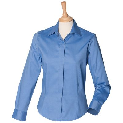 Henbury Women's long sleeve lightweight Oxford