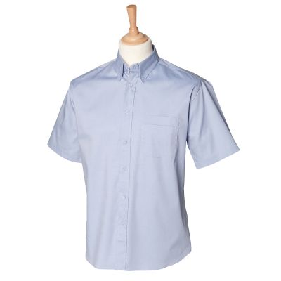 Henbury Short sleeve lightweight Oxford