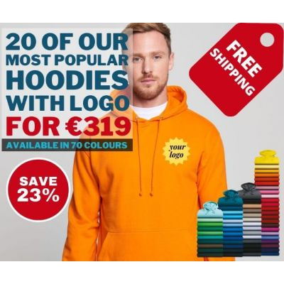 20 of our most popular hoodie for €319