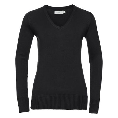 Russell Collection V-neck knitted sweater