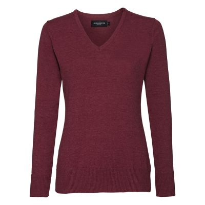 Russell Collection Women's v-neck knitted sweater