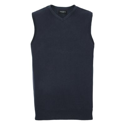 Russell Collection V-neck sleeveless knitted sweater