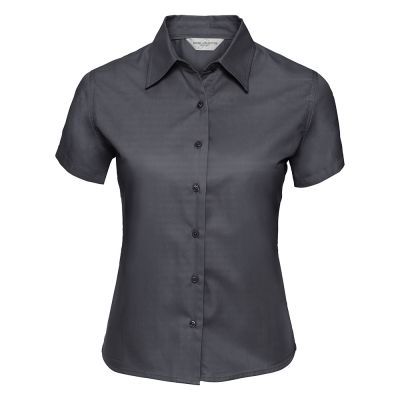 Russell Collection Women's short sleeve classic twill shirt