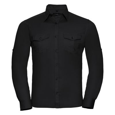 Roll-sleeve shirt long sleeve