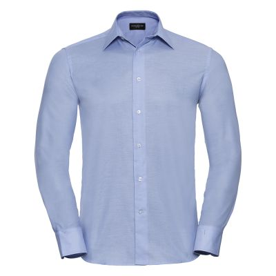 Russell Collection Long sleeved easycare tailored Oxford shirt
