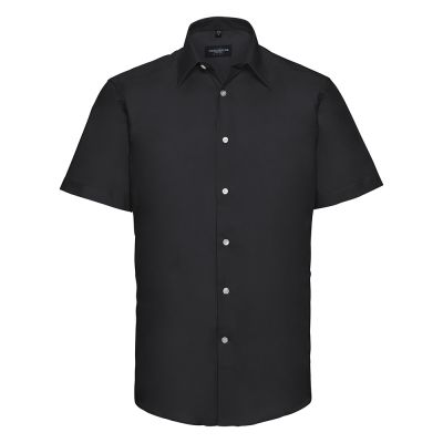 Russell Collection Short sleeved easycare tailored Oxford shirt