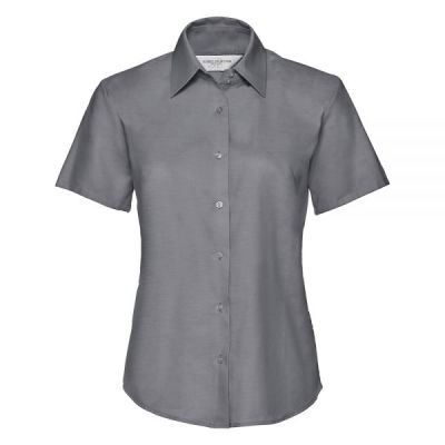 Russell Collection Women's short sleeve Oxford shirt- Plus Sizes