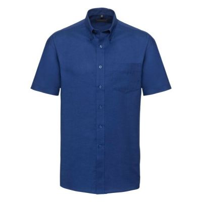 Russell Collection Short sleeve easycare Oxford shirt- Plus Sizes