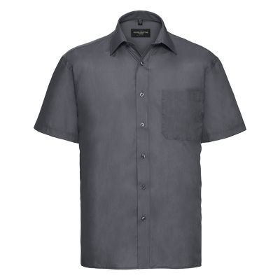 Russell Collection Short sleeve polycotton easycare poplin shirt