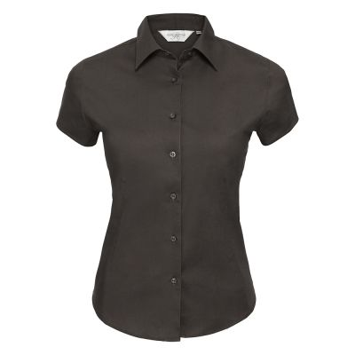 Women's short sleeve easycare fitted stretch shirt