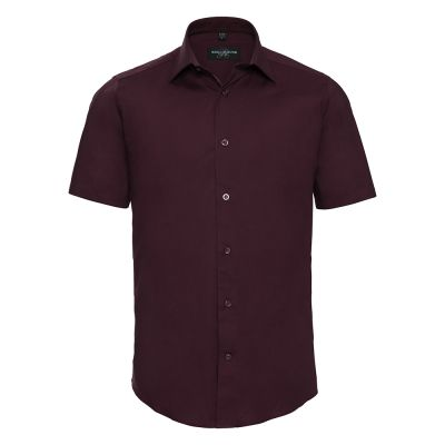 Russell Collection Short sleeve easycare fitted shirt