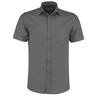 Kustom Kit Poplin shirt short sleeve- Plus Sizes