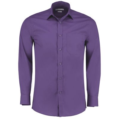 Kustom Kit Poplin shirt long sleeve