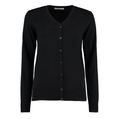Kustom Kit Women's Arundel v-neck cardigan long sleeve