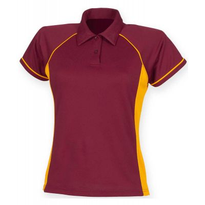 Finden & Hales Women's piped performance polo
