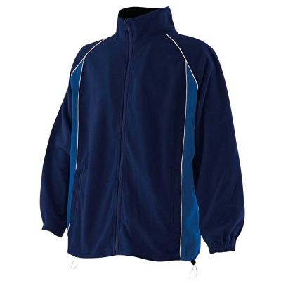 Finden & Hales Piped microfleece jacket