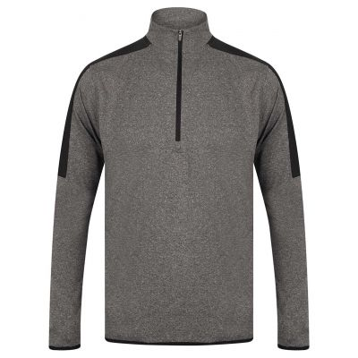 1/4 zip mid-layer with contrast panelling
