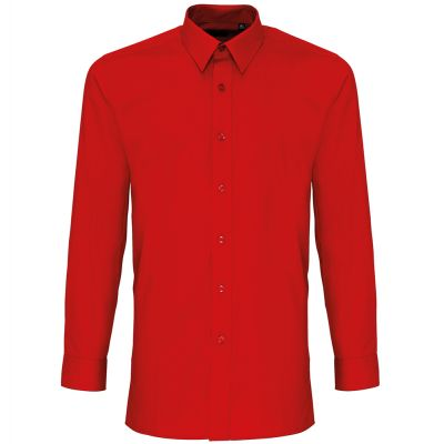 Premier Colours' Long Sleeve Fitted Poplin Shirt