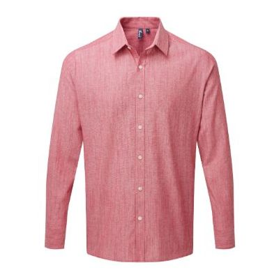 Premier Cotton slub chambray long sleeve shirt