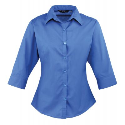 Premier Ladies 3/4 Sleeve Poplin Shirt