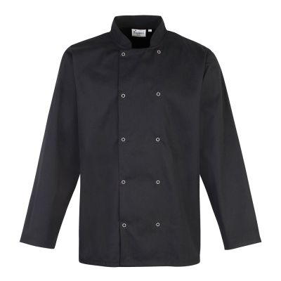 Premier Studded front long sleeve chef's jacket