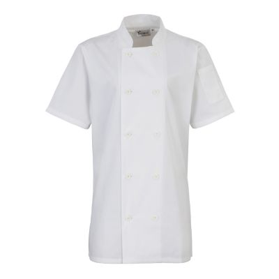 Premier Women's short sleeve chef's jacket