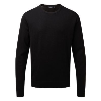 Premier Crew neck cotton-rich knitted sweater