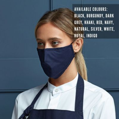 Premier protective 3-layer fabric mask