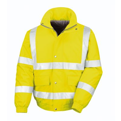 Safety padded softshell blouson