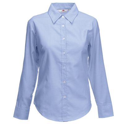 Fruit of the Loom Lady-fit Oxford long sleeve shirt
