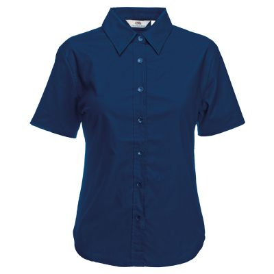 Fruit of the Loom Lady-fit Oxford short sleeve shirt