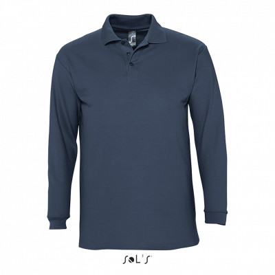 SOL'S Winter II Long Sleeve Cotton Pique Polo Shirt