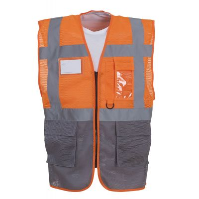 Hi-vis top cool open-mesh executive waistcoat