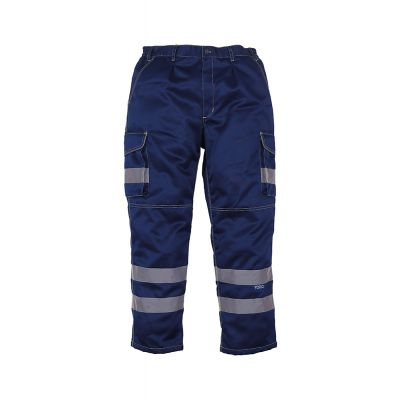 Yoko Hi-vis polycotton cargo trousers with knee pad pockets