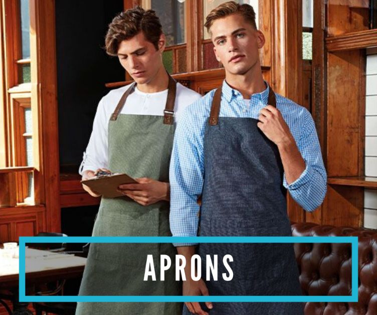 Aprons- customisable in print or embroidery with your logo