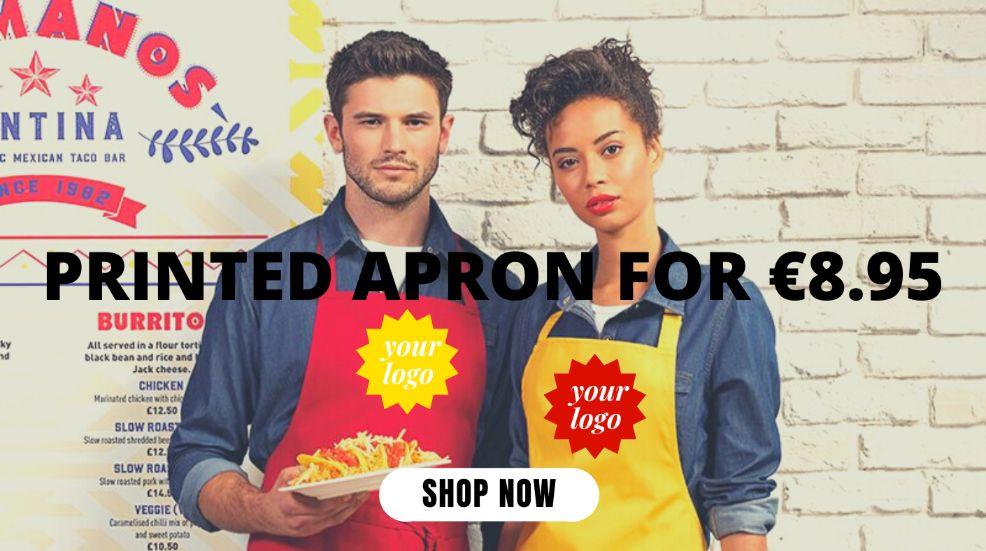 Amazing value deal on printed aprons!