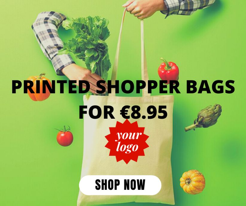 Amazing value deal on printed shopper bags!